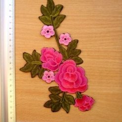 Rose Motif Sew on Pink Rose