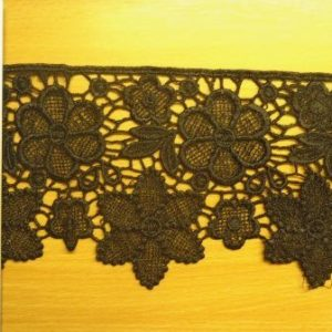 Trimming Lace Cluney Daisy Black