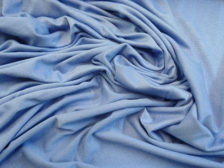 cornflower viscose jersey t-shirting plain colours