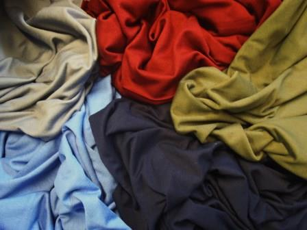 viscose jersey t-shirting plain colours