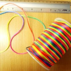 rainbow corset lacing rats tail cord