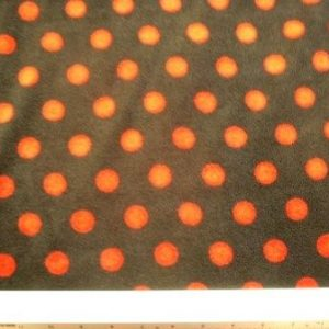 Polar Fleece Fabric Red/ Black Spot
