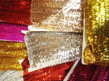 stretch sequin trimming