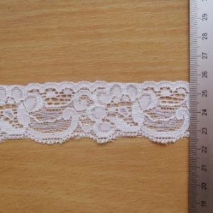 Lace trimming Flat White Exeter 5cm Wide