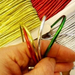 metallic skinny cord