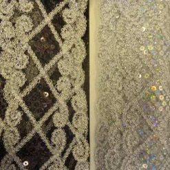 lace trimming lazer sequin