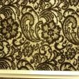Sequined Lace Fabric Black Vintage Floral Joyce