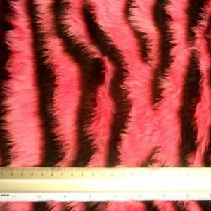 Faux Fur Fabric Funky Cerise/Black
