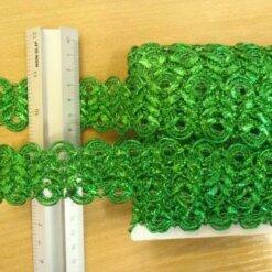 emerald lurex clover trimming