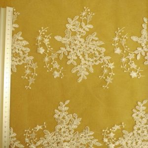 white Bridal Lace Fabric Star Maiden White