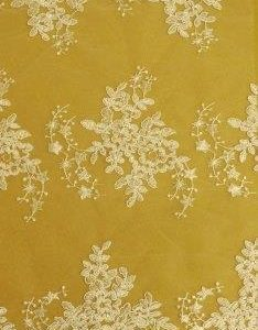 Bridal Lace Fabric Star Maiden White
