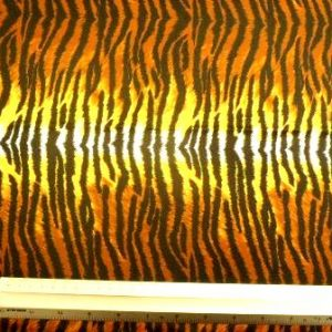 Lycra Patterned Fabric Yellow Tiger