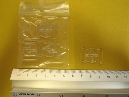small Bikini Clip Fasteners Clear
