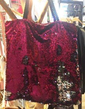 reverse sequin bag