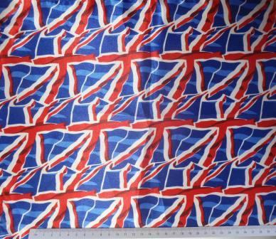 union jack celebration satin print