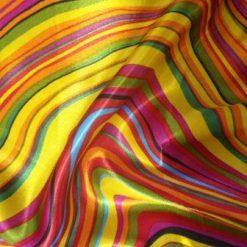 wavy lines satin print