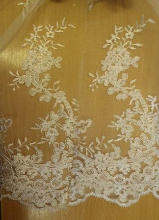 Bridal Lace Fabric English Rose