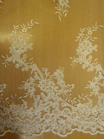 ivory Bridal Lace Fabric English Rose