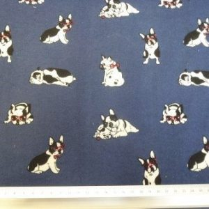 Cotton Brushed Fabric Pug World