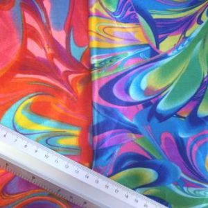 Satin Print Fabric Colour Carnival