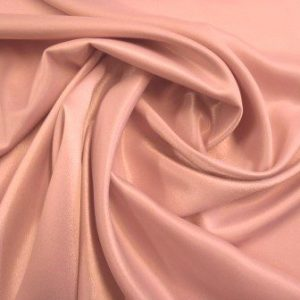 crepe back satin rose gold