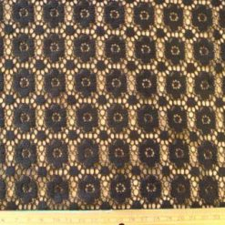 Lace Fabric Daisy Rhine Black