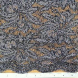 Lace Fabric Heavy Crochet Madeira Grey