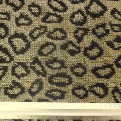 Jersey Fabric Gold Chain Leopard