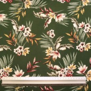 Viscose Fabric Secret Garden Green