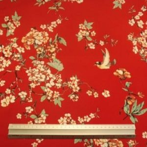 Viscose Fabric Spice Blossom Red