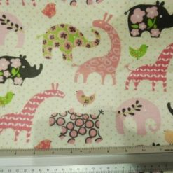 Cotton Winceyette Dinosaurs Fantasy Fabric