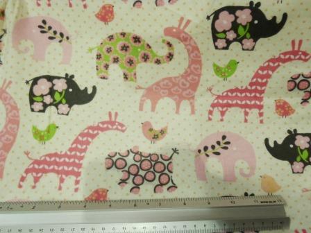 Cotton Winceyette Dinosaurs Fantasy Fabric