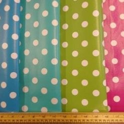 Spotty PVC tabling fabric