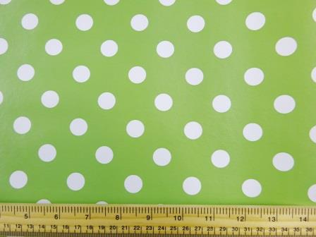 cucumber Spotty PVC tabling fabric