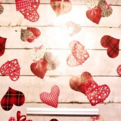 PVC Tabling Fabric Tartan Hearts