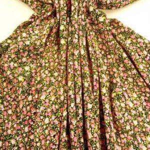 Viscose Fabric Petite Rose Floral pink