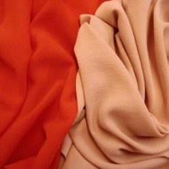 Polyester Fabric Crepe de Chine rose gold