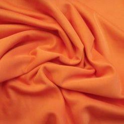 Scuba Jersey Fabric Orange light weight knit