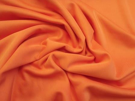 Scuba Jersey Fabric Orange light weight knit