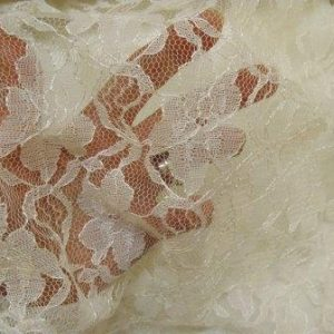 Ivory Lace Fabric Flowers