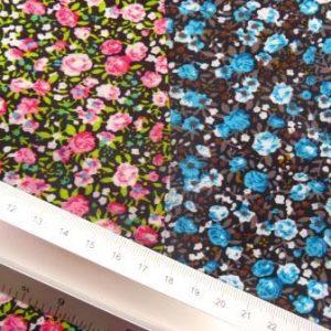 Viscose Fabric Petite Rose Floral