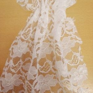 White Lace Fabric Flowers