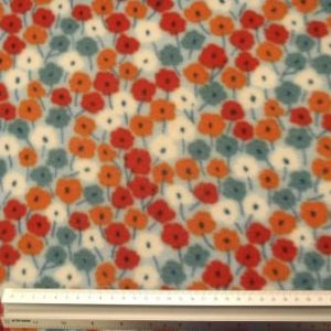 Polar Fleece Fabric Flower Haze
