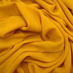 Crepe Georgette Fabric Mustard Hot Hot