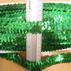 3 row sequin stretch emerald
