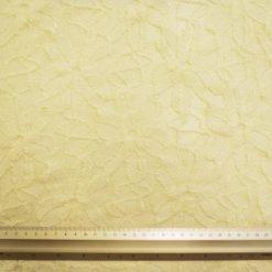 Lace Fabric Bobbin Daisy Ivory