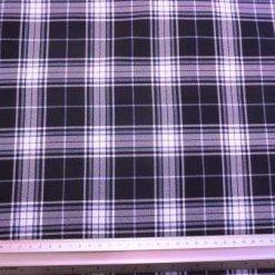 Tartan Suiting Fabric Navy