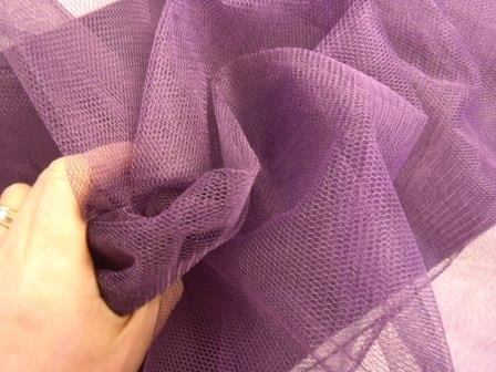 aubergine dress net