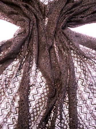 Black Lace Fabric Soft Chevron