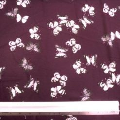 Georgette Fabric Butterfly Boogie Aubergine